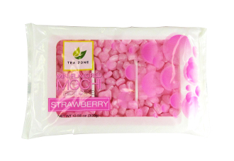 TeaZone Mini Strawberry Flavored Mochi 300g Bag (25 Bags/Case)
