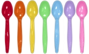 Frozen Yogurt Spoons Supplier available in green, pink, red ,orange, yellow, purple. and blue at wholesale prices.