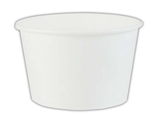 8 Oz. White Paper Ice Cream Cups 1000/Case