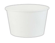 8 Oz. White Paper Containers - Frozen Yogurt Cups (1000/Case)