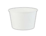 4 Oz. White Paper Containers - Frozen Yogurt Cups (1000/Case)