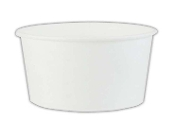 6 Oz. White Paper Containers - Frozen Yogurt Cups (1000/Case)