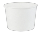 These 16oz. White Paper Ice Cream Cups are perfect for ice cream, frozen yogurt, and gelato.