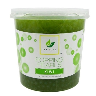 Popping Boba Pearls Kiwi Flavor 7LB. (Case Of Four)