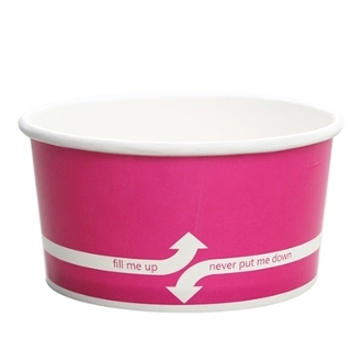 6 oz pink paper frozen yogurt cups.