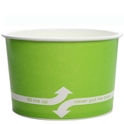 20 oz. Green Paper Frozen Yogurt Cups.