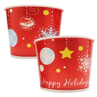 16 Oz. (Happy Holidays) Frozen Yogurt Cups 1000/Case
