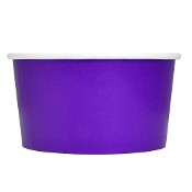 4 oz. Purple Paper Ice Cream Cups